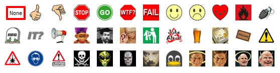 Our existing comments icons