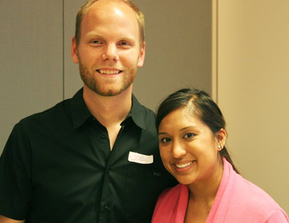 SVNewTech organizers Joe Robinson and Nisha Baxi