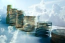 Columns of coins in the cloud
