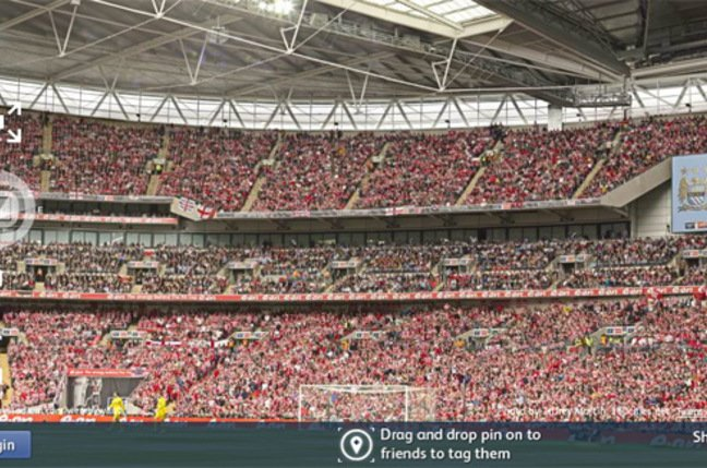 The Sun's 360 degree view of Wembley. Pic: Jeffrey Martin, 360Cities.net