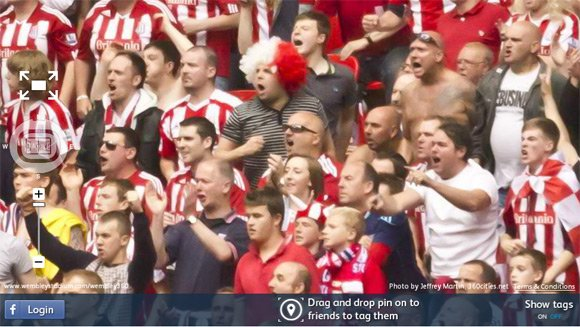 Stoke City fans in the 360 degree Wembley picture. Pic: Pic: Jeffrey Martin, 360Cities.net