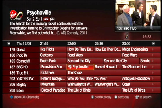 Virgin tivo epg not updating