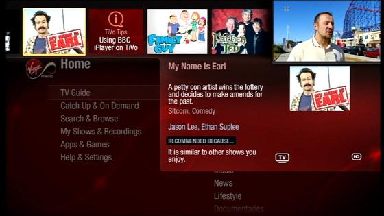 Virgin Media TV Powered by TiVo • The Register