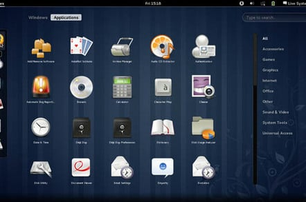 Fedora 15 screenshot