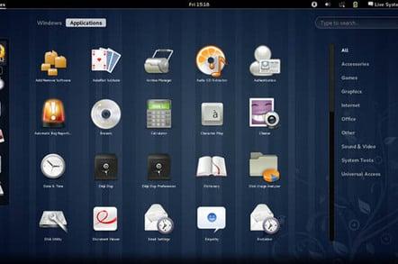 Fedora 15 screenshot