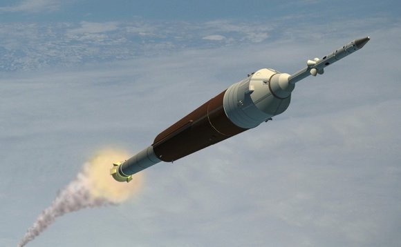 An Orion CEV launching atop the cancelled Ares I crew rocket. Credit: NASA
