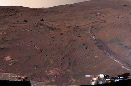 Spirit view of Mars. Pic: NASA