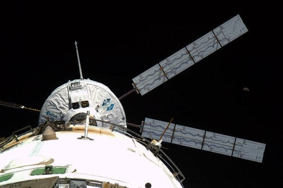 The Johannes Kepler docking with the ISS in February 2011. Pic: ESA