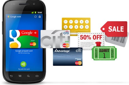 Google Wallet 'vision' illustration