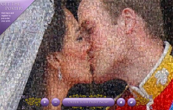 Royal Wedding couple kiss