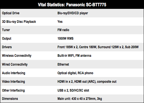 Panasonic SC-BTT775