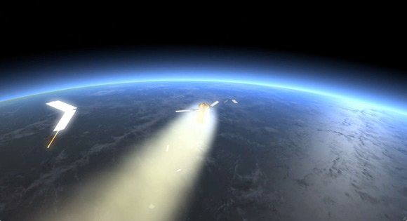 Artist's impression of the Johannes Kepler burning up in the atmosphere. Pic: ESA/D. Ducros