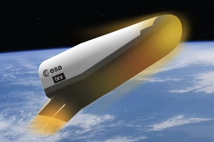 Concept pic of the Intermediate eXperimental Vehicle during re-entry. Credit: ESA