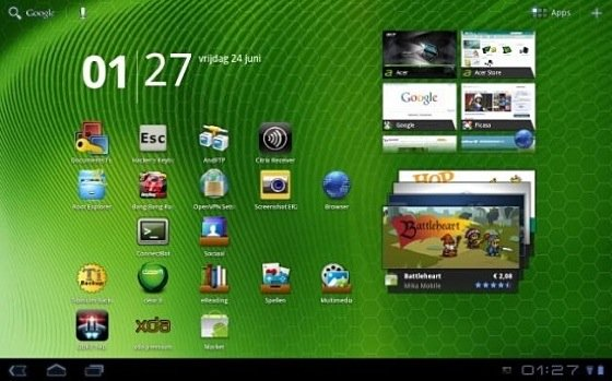 Android 3.1 on Acer A500