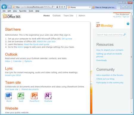 Office 365 Portal