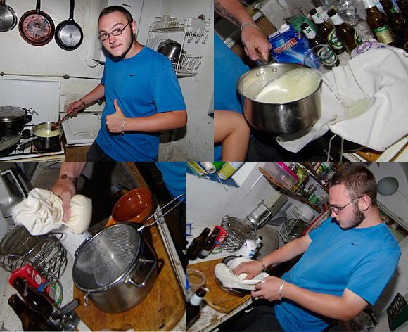 Rui making cheese curds