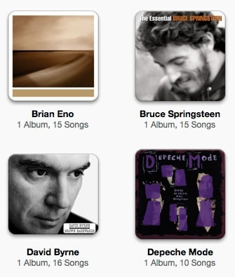 Music albums in iTunes