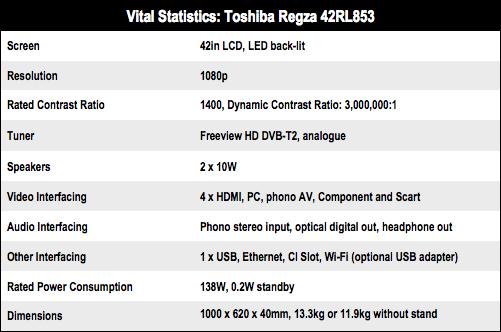 Toshiba Regza 42RL853