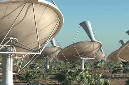 SKA antennas close-up - artist's impression
