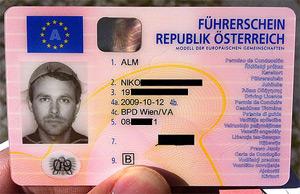 Niko Alm's driving licence. Pic: Niko Alm