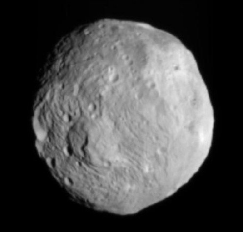 Dawn's snap of Vesta. Pic: NASA