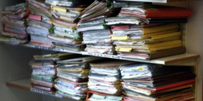 Files on shelves