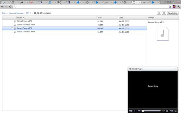 Chrome OS file manager