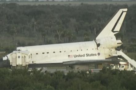 Atlantis on the tarmac shortly after landing this morning. Pic: NASA