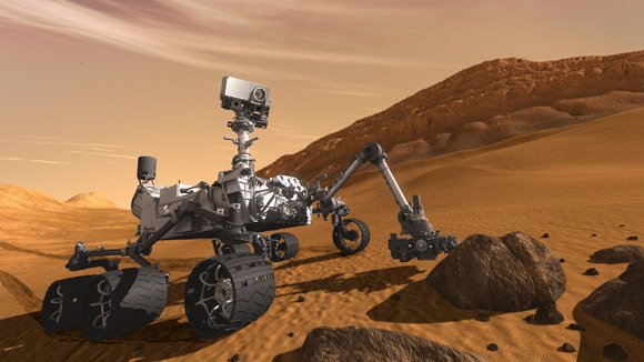 Artist's impression of Curiosity on Mars. Pic: NASA