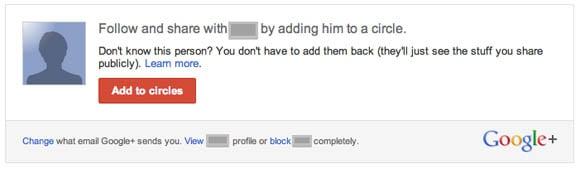 Google+ sharing dialog