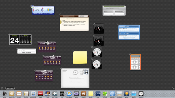 Apple Mac OS X 10.7 Lion Dashboard widgets
