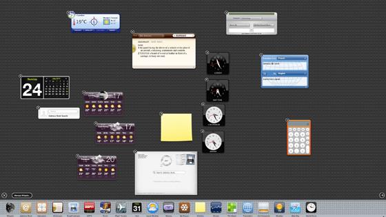 Apple Mac OS X 10.7 Lion Dashboard widgets