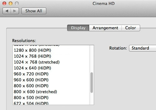 OS X Lion HiDPI