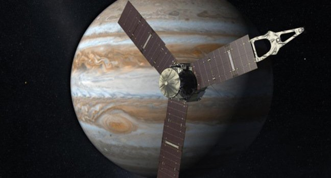 Artist's impression of Juno at Jupiter. Pic: NASA