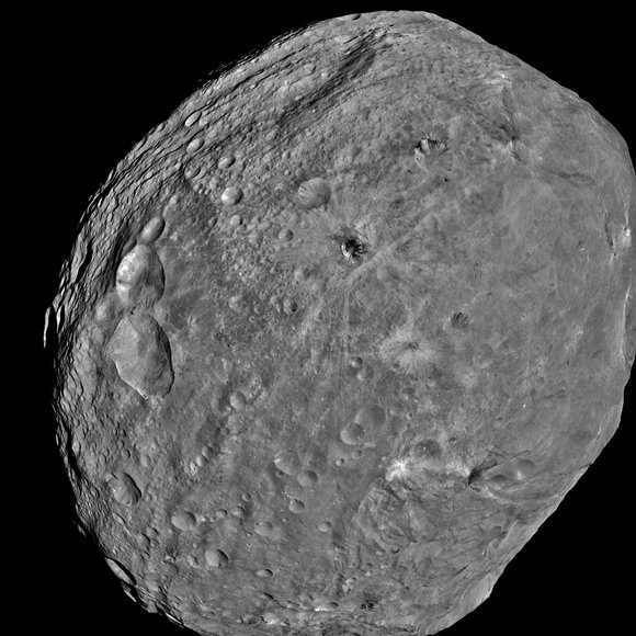 Dawn's full-frame image of Vesta. Pic: NASA
