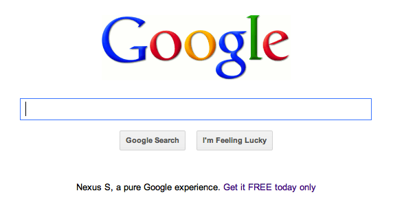 Google free Nexus S offer