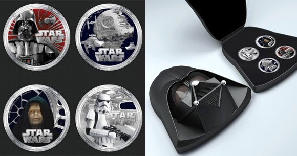The Darth Vader coin set