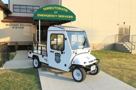 The solar powered patrol vehicle employed by the Fort Knox directorate of emergency services. Credit: US Army