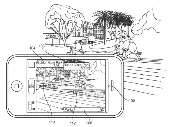 Apple 'augmented reality' patent application illustration