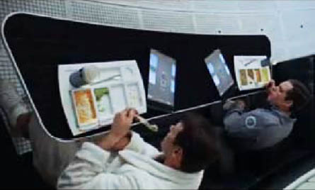 Tablet computers in '2001: A Space Odyssey'