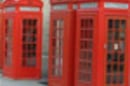 Red telephone boxes near royal opera house