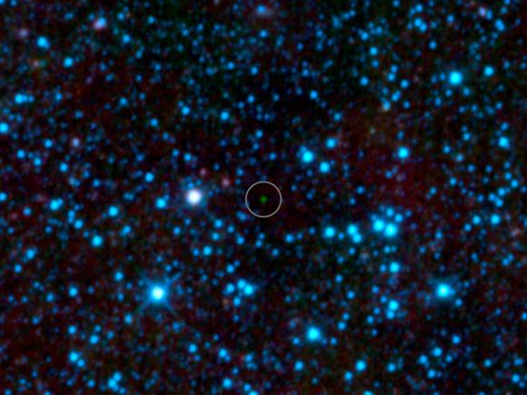 WISE image of Y dwarf WISE 1828+2650. Pic: NASA