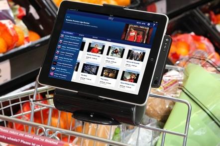 Sky's Sainsbury's iPad shopping trolley