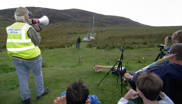 John Bonsor supervises another rocket launch