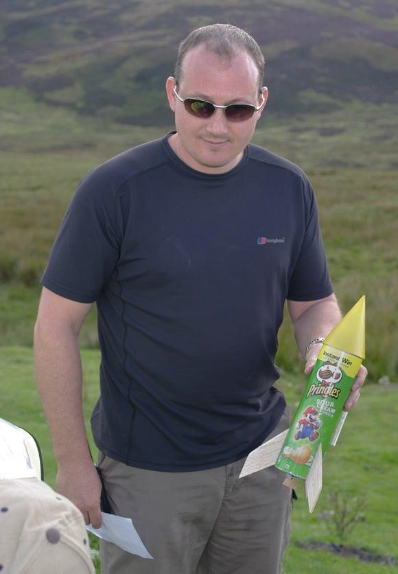 The Pringles tube rocket