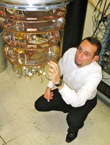 Matteo Mariantoni and his chilly quantum computer