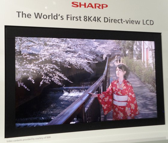 Sharp 8K4K hi-res prototype TV