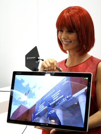 Sharp 8K4K hi-res prototype TV