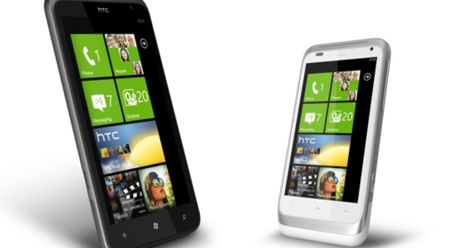 HTC Titan and Radar Windows Phone 7.5 smartphones