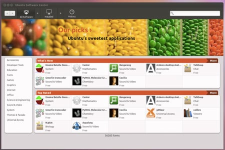 Ubuntu 11.10 software center